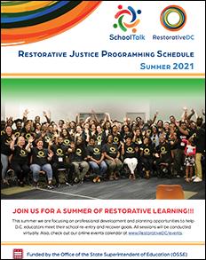 Thumbnail - SchoolTalk RestorativeDC Restorative Justice Programming Schedule: Summer 2021